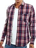 インプローブス チェック シャツ 腰巻 サーフ系 ストレッチ ネルシャツ カジュアルシャツ yシャツ ワイシャツ メンズ