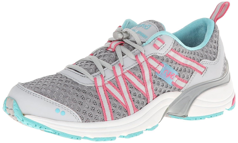 Ryka Women's Hydro Sport Water Shoe Cross-Training Shoe B00I9TT550 12 B(M) US|Silver Cloud/Cool Mist Grey/Winter Blue/Pink