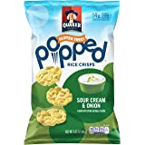 Quaker Popped Rice Crips Snacks, Gluten Free, Sour Cream & Onion, 3.03 Ounce