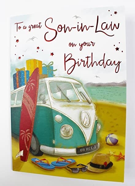 Feliz tarjeta de felicitación de cumpleaños para yerno gran ...