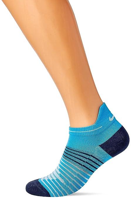 Nike sx5195 – 482 – Calcetines de Correr Unisex, Color Bleu Équateur/Obsidienne/