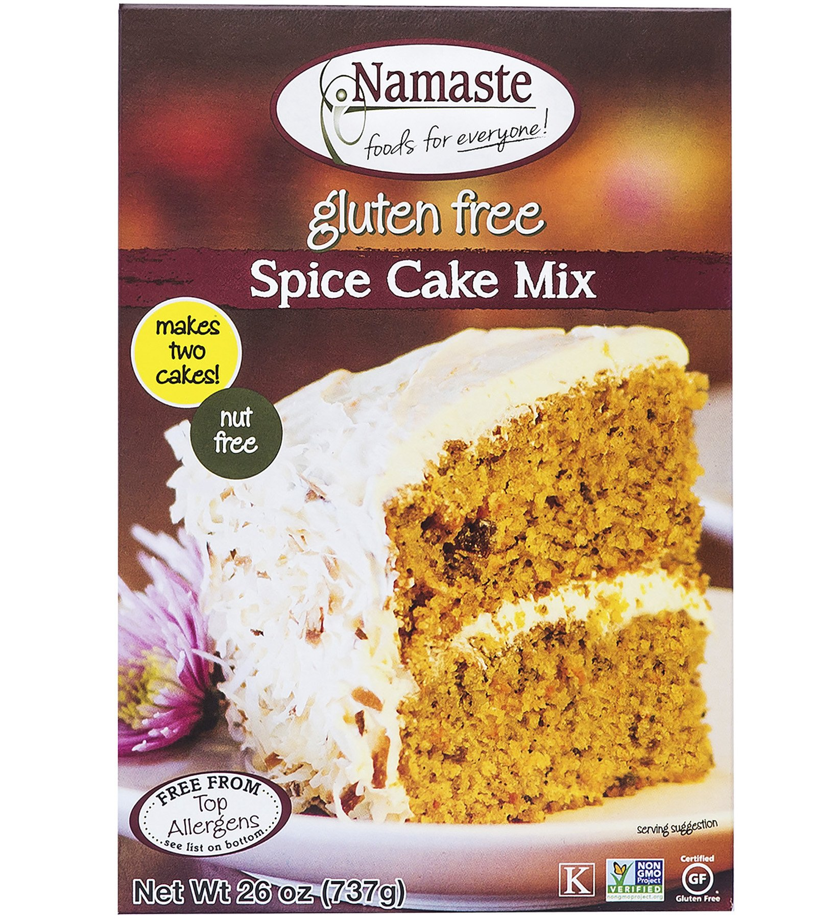 Namaste Foods, Gluten Free Spice Cake Mix, 26-Ounce Bags (Pack of 6) by Namaste Foods