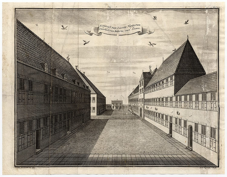 VOC - impresión antigua square-castle-batavia-indonesia Jongman-erfemeijer-1726-: Amazon.es: Hogar
