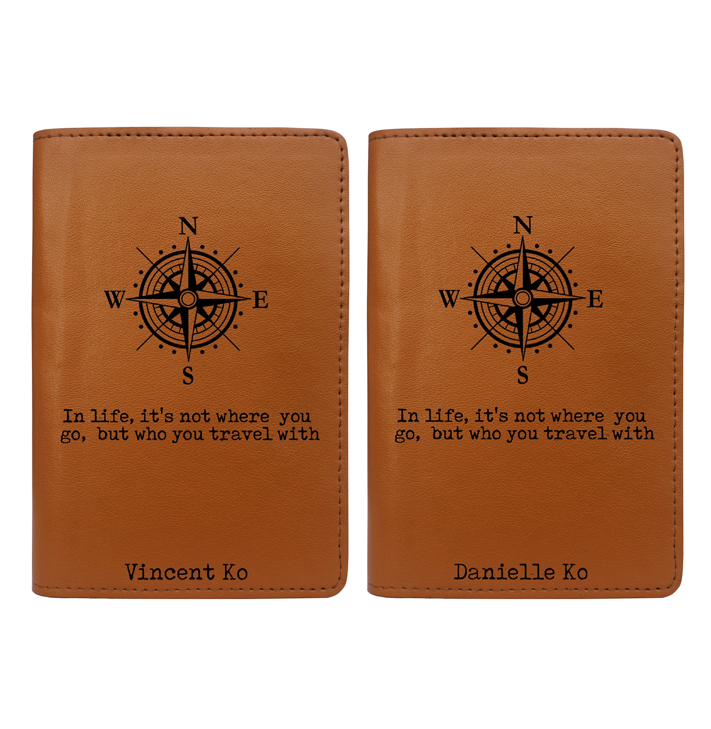 Couple Passport Holder - Personalized Passport Cover - Set of 2 - Wedding Gift by With Love From Julie