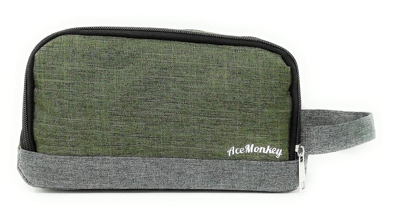 Neceser Bolsa de Aseo Hombre Dise/ño Premium Exclusivo Liso Tela Impermeable Diamond Monkey