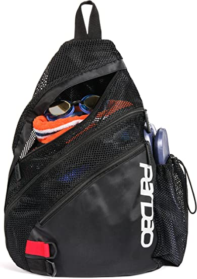 Black Perfect Christmas for a Swimmer Swimming Pool /& Wet Clothes Backpack Small Sports Workout Gym Bag for Men and Women Pardao Aerify Mesh Swim Bag