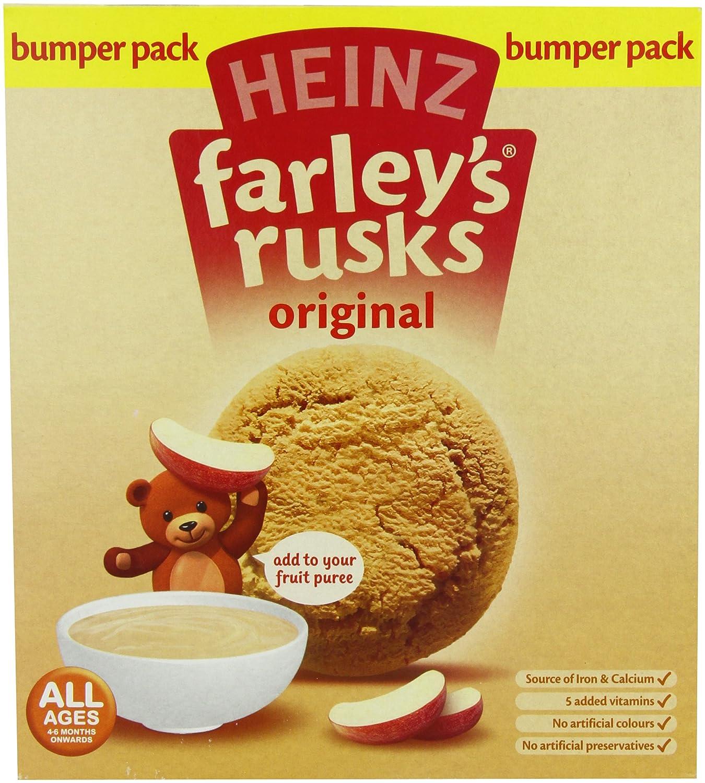 Heinz Farley's Rusks, Original Flavor, 300g Boxes (Pack of 6) Heinz Farley' s Rusks B001FA1JCW
