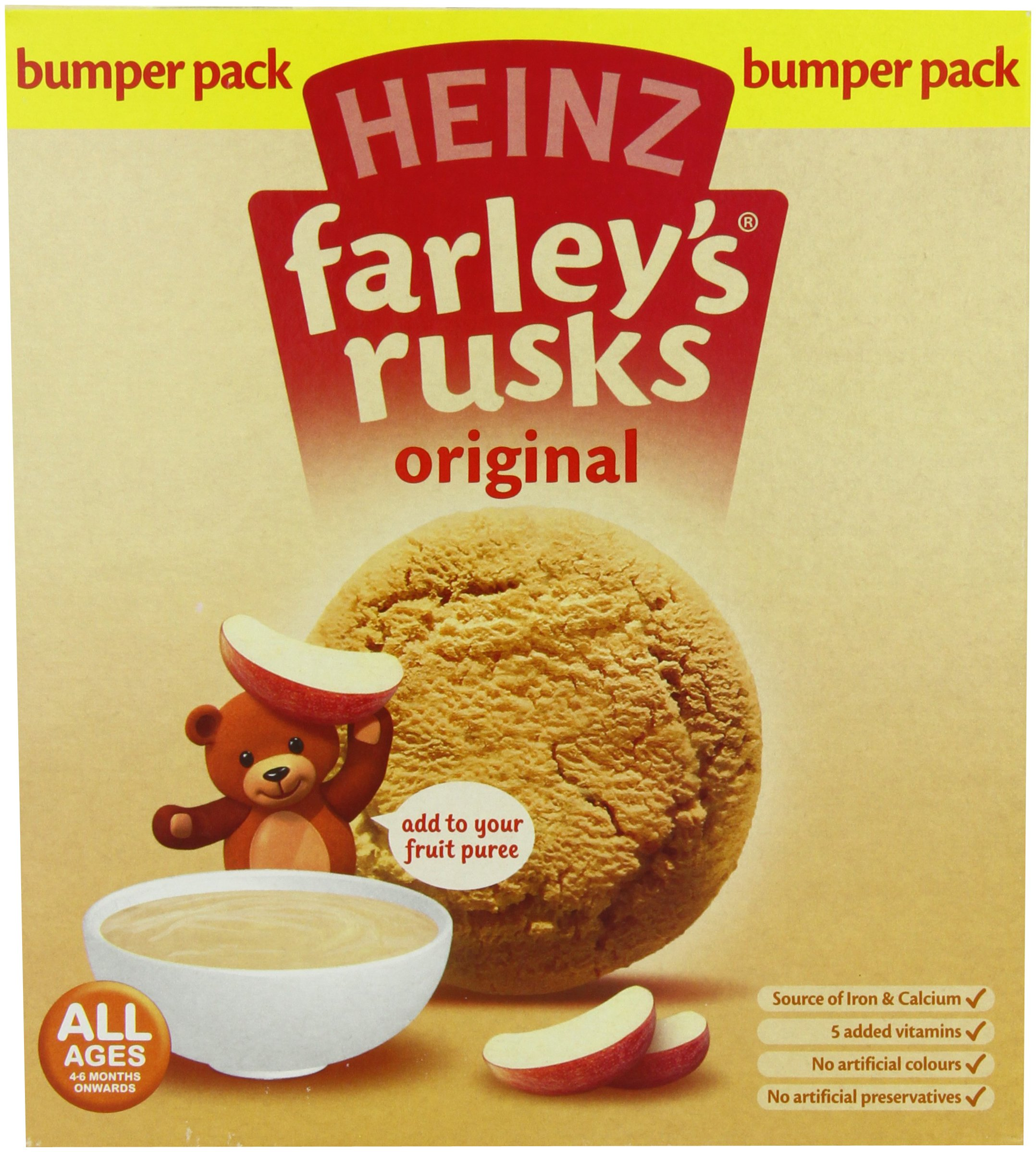 Heinz Farley's Rusks, Original Flavor, 300g Boxes (Pack of 6) by Heinz