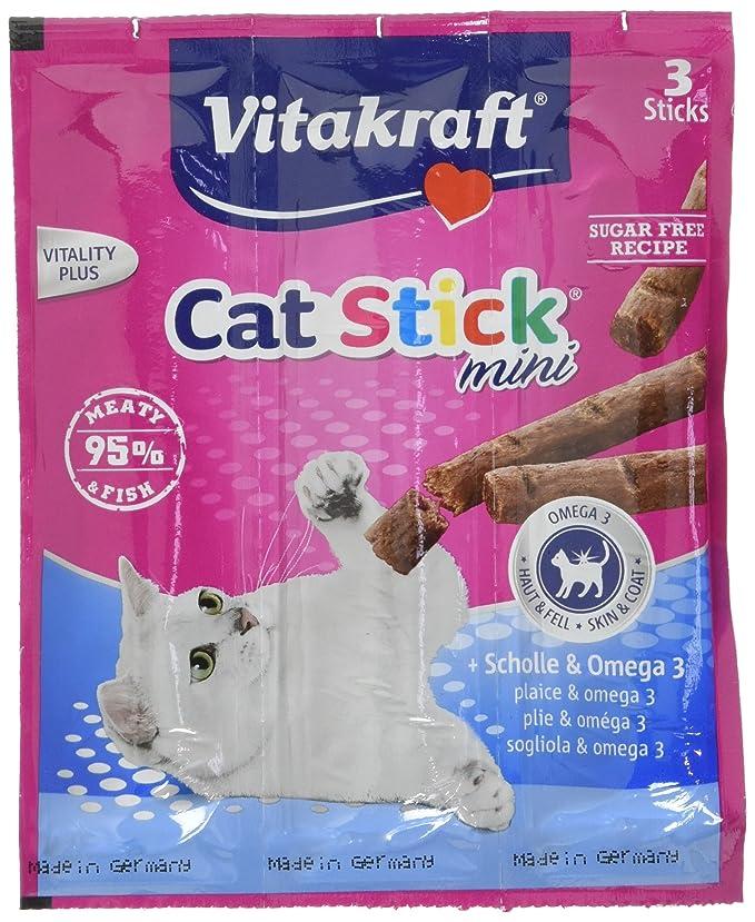VITAKRAFT 1571260031 - Sticks para gatos mini pescado con omega, 3 sticks (3 x 6g): Amazon.es: Productos para mascotas
