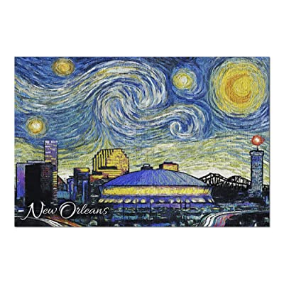 New Orleans, Louisiana - Starry Night 97121 (Premium 1000 Piece Jigsaw Puzzle for Adults, 20x30, Made in USA!): Toys & Games