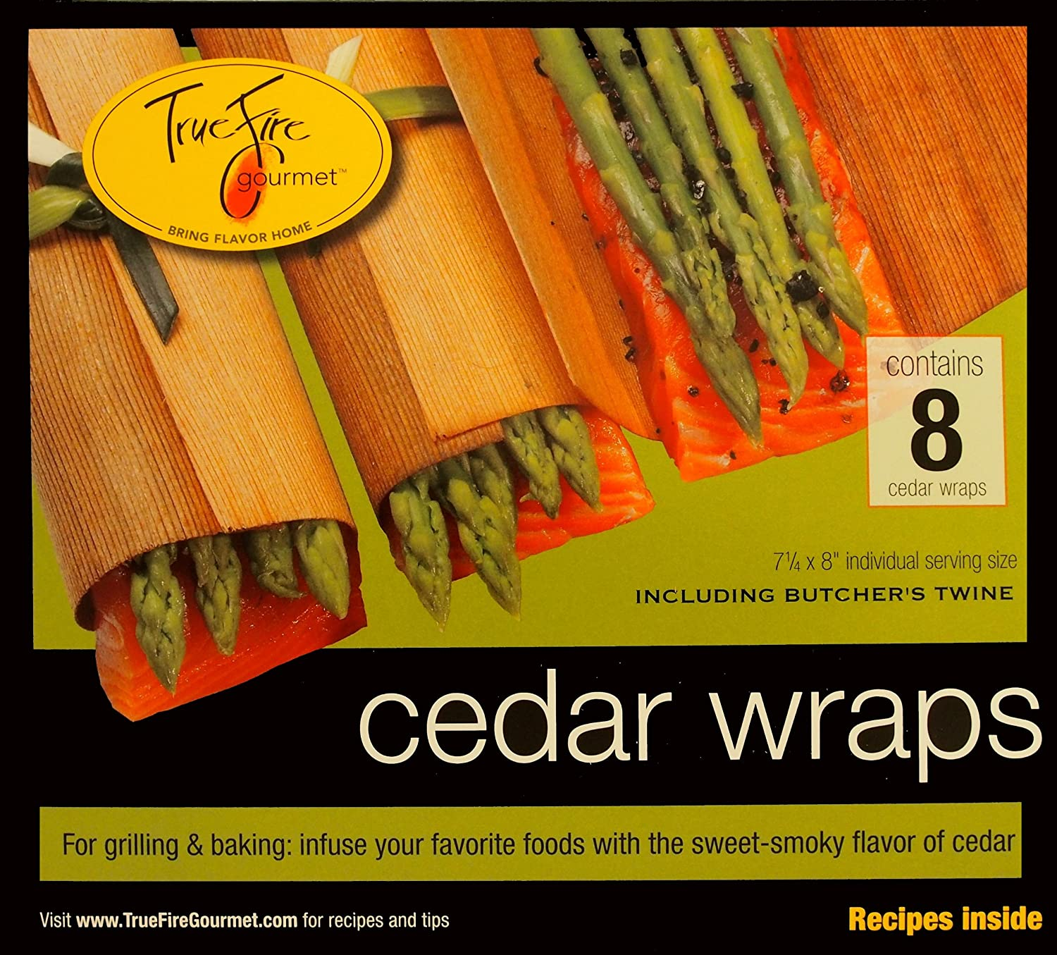TrueFire Gourmet TFWraps8-8 8-Pack 7.25 by 8-Inch Cedar Wraps with twine Dobi and Associates