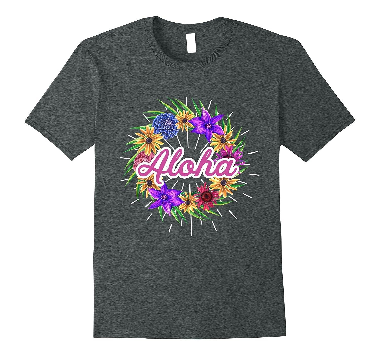 Aloha Hawaiian Lei Flower T Shirt | Mens, Womens and Youth-BN