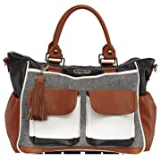 Itzy Ritzy Triple Threat Convertible Diaper Bag in Coffee and Cream