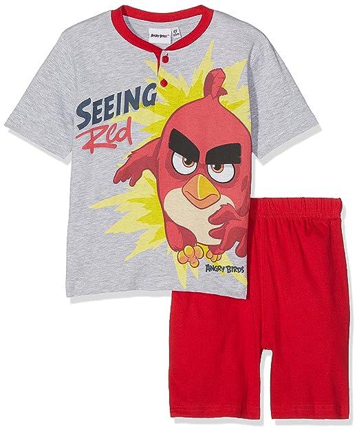 Angry Birds 13834/10AZ, Pelele para Dormir Unisex bebé, Rojo (Rosso 463