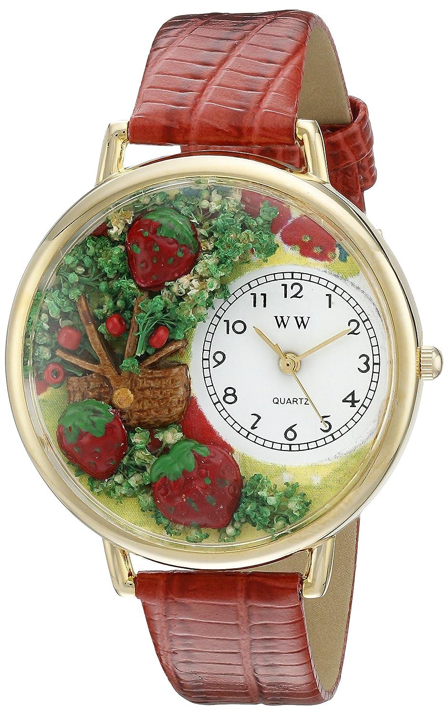 Whimsical Watches G-1210006 - Reloj analógico de Cuarzo Unisex, Correa de Cuero