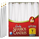 Classic White Taper Candles – 30 Bulk Pack – For Shabbat, Dinner Tables, Restaurants, Ceremonies and Emergency - 7 Hour Burn Time - by Ner Mitzvah