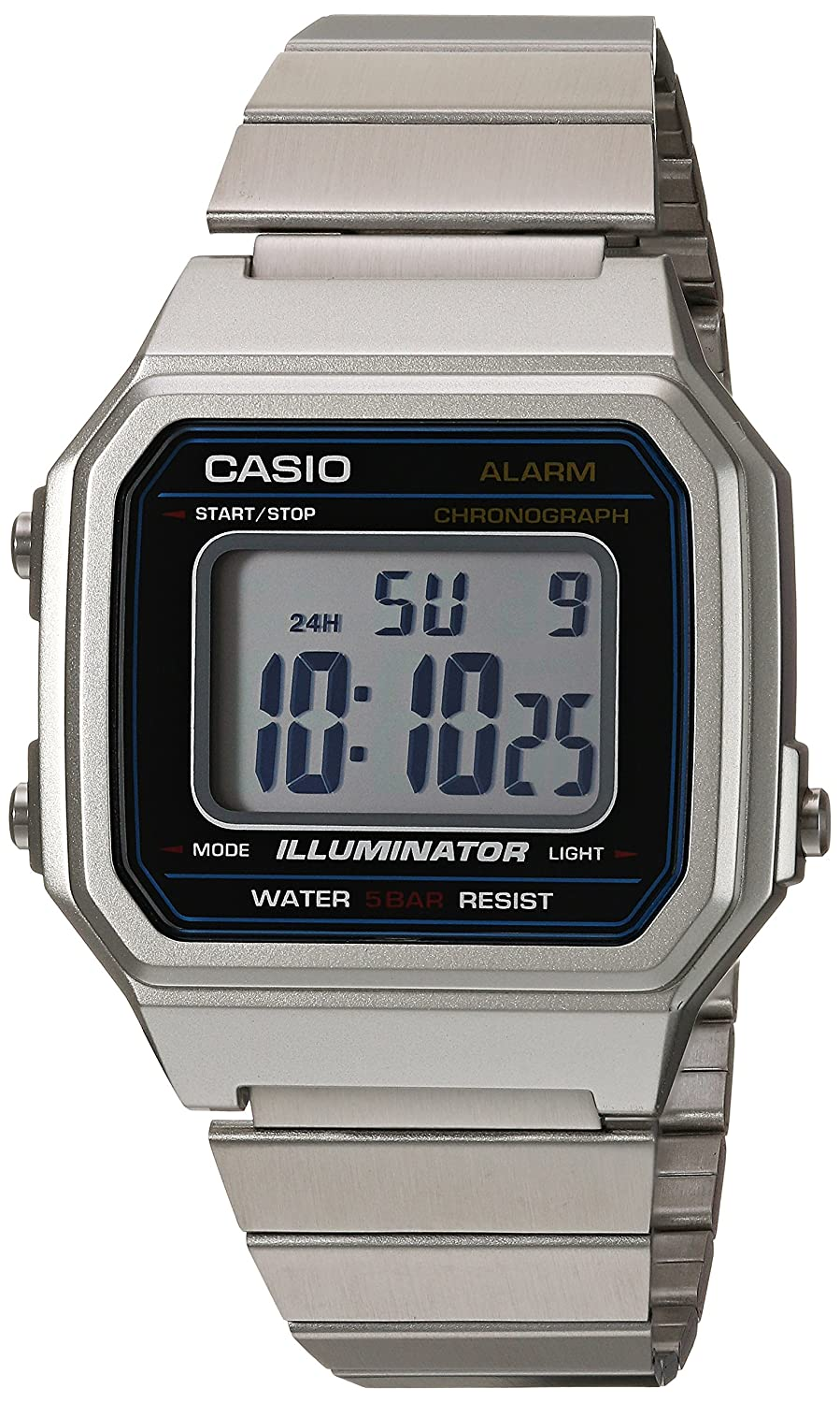 36fcf3af715f Amazon.com  Casio Men s Classic Quartz Watch with Stainless-Steel Strap