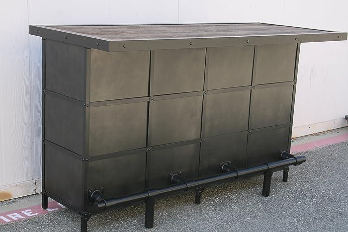 Amazon.com: Modern home bar. Industrial liquor cabinet. Reclaimed ...