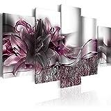 murando – Cuadro Flores Lirios 200x100 cm Flores Impresión de 5 Piezas Material Tejido no Tejido Impresión Artística…