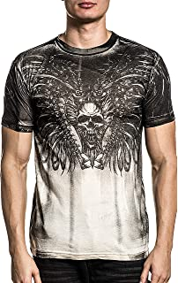 XTREME COUTURE by AFFLICTION Mens T-Shirt OIL SILCK Skulls Biker MMA UFC $40