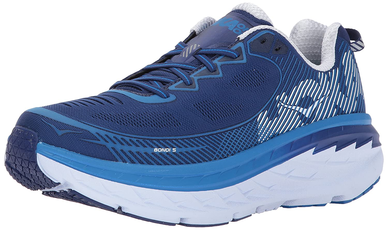 HOKA(HOKA) ボンダイ(Bondi) 5 1014757-CGTB B01N1UL174 9 D(M) US Blueprint/White