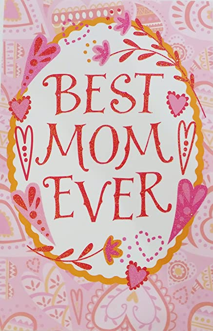 Amazoncom Best Mom Ever Happy Valentines Day Greeting Card For
