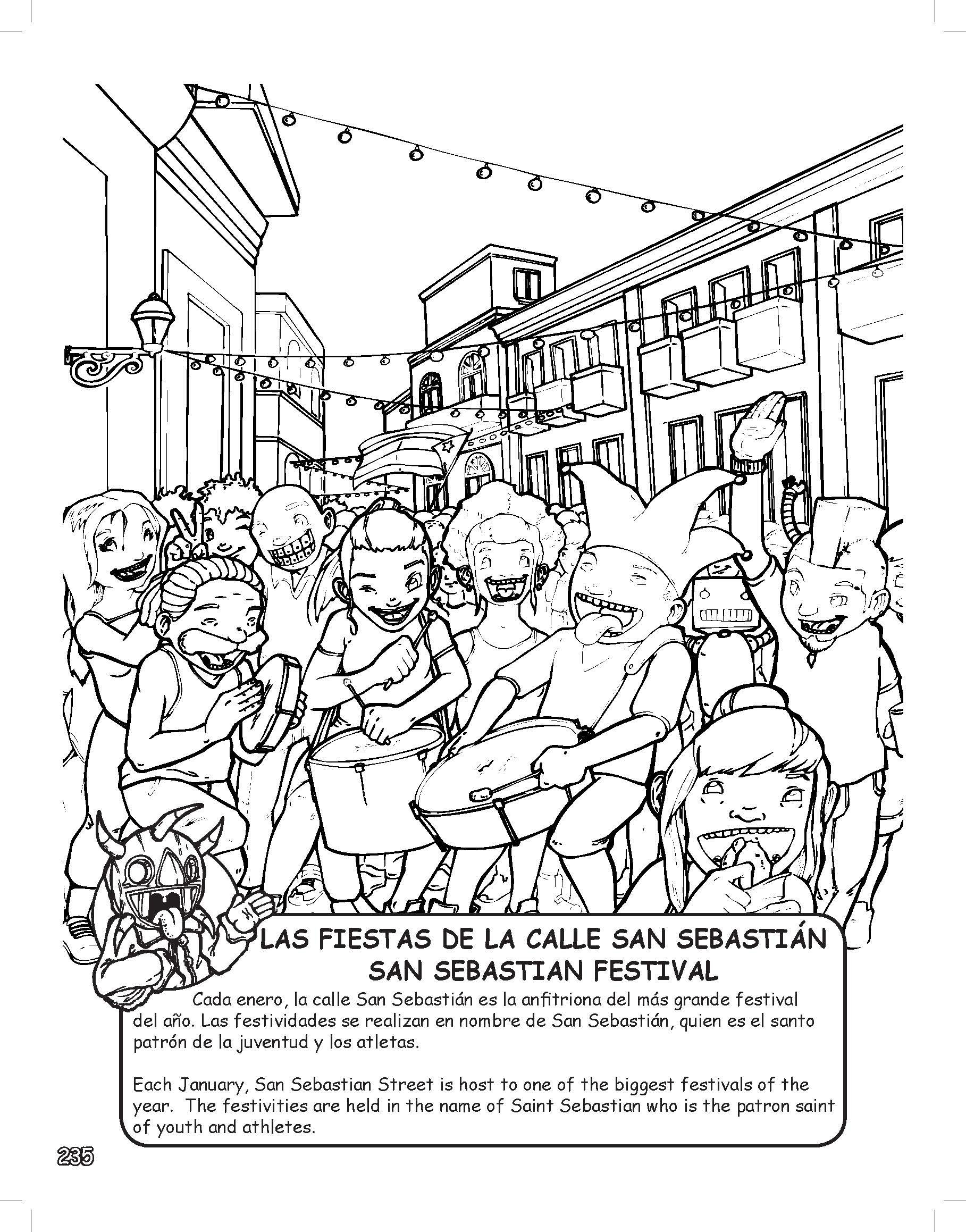 Puerto Rico Coloring Learning Activity Book 303 pages with 4 ...