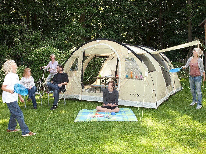 Skandika Gotland 5 - Tienda de campaña, Color Beige clarito, Talla 505 x 370 cm: Amazon.es: Deportes y aire libre