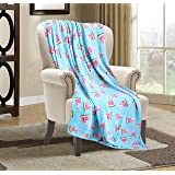 Valerian Luxury Velvet Super Soft Light Weight Blanket Prints Fleece Year Round Home Decor Fuzzy Warm and Cozy Throws…