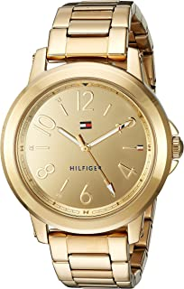 Tommy Hilfiger Womens Sport Quartz Gold-Tone-Stainless-Steel Casual Watch,