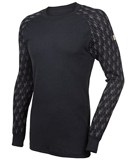 084932e7 Janus Merino Wool Men's Long Sleeve T-Shirt Machine Washable Made In Norway  at Amazon Men's Clothing store:
