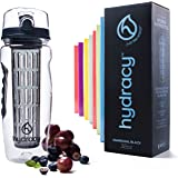 Hydracy Fruit Infuser Water Bottle - 32 Oz Sport Bottle with Full Length Infusion Rod and Insulating Sleeve Combo Set + 27 Fruit Infused Water Recipes eBook Gift - Your Healthy Hydration Made Easy