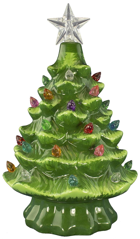 Amazon.com: Christmas Is Forever Ceramic Christmas Tree 7\