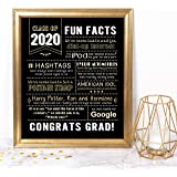 Katie Doodle Graduation Party Supplies 2019 Decorations Centerpieces Gifts | Includes 8x10 Class-of-2019 Sign [Unframed], SG019, Black/Gold