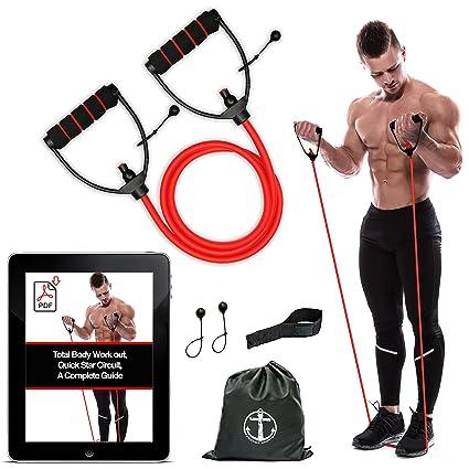 Anchor - Tubo de resistencia tonificador para entrenamiento, bandas de resistencia para ejercicio, entrenamiento de fuerza, para fisioterapia, yoga, ...