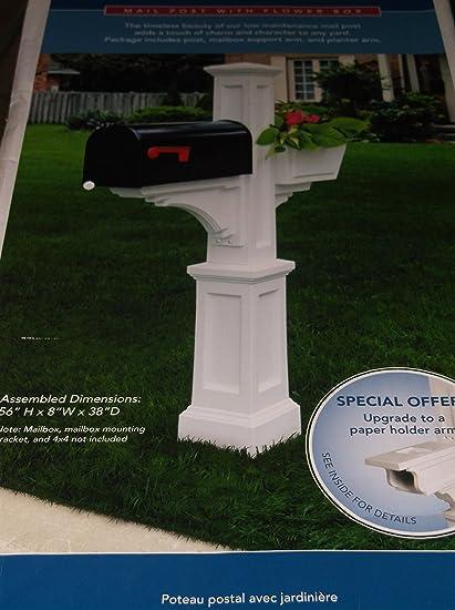 Mayne White Polymer Mailbox Post Item 157720 Model Va85753 Upc