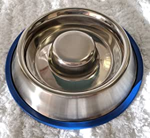 Chow Slow Fun Feeder Slow Feed Bowl - Stainless Steel - for Dogs - 700ml - 2 Cups