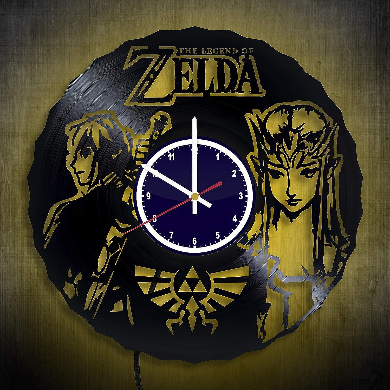 Amazon Com Link Zelda Art Vinyl Night Light Record Clock