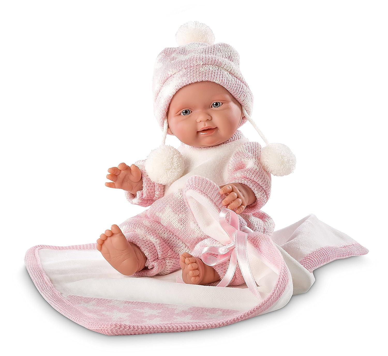 Llorens 26270 – Recién Nacido Baby muñeca con el color rosa farbenen pequeñas techo, 26 cm