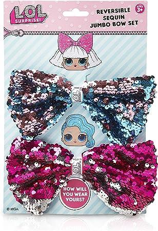 """Handmade 4/"""" surprise doll hair bow on a clip"""