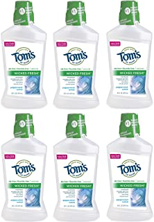 product image for Tom's of Maine Natural Wicked Fresh! Mouthwash, Kids Mouthwash, Peppermint Wave, 16 Ounce, 6-Pack