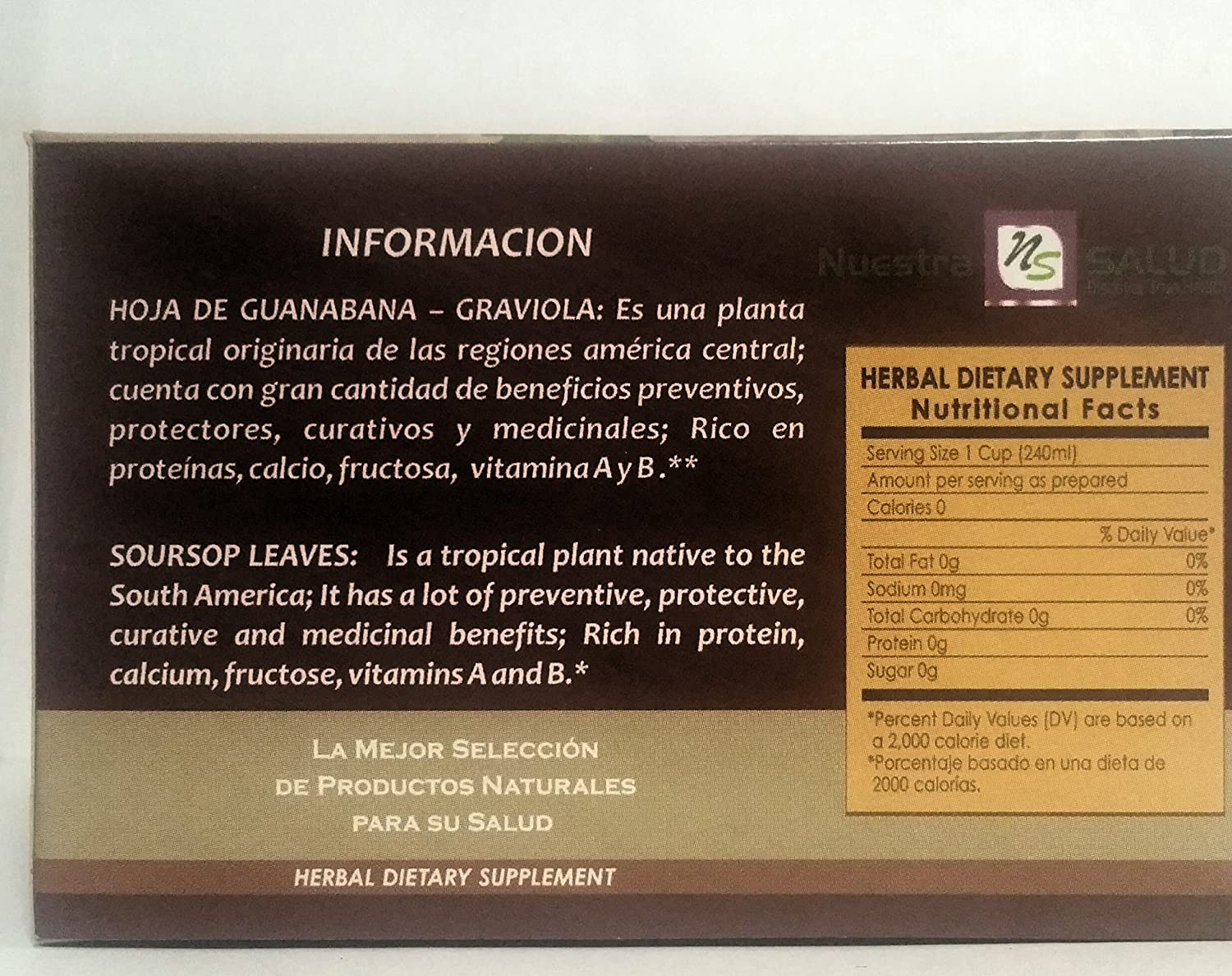 Amazon.com : 3-Pack Nuestra Salud Tea (Moringa Slim)-20 teabags each box. : Grocery & Gourmet Food