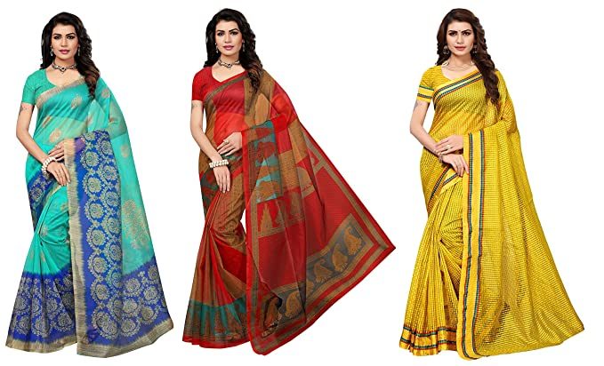 77dae2bee317c Image Unavailable. Image not available for. Color  Art Decor Sarees Cotton  Saree with Blouse ...