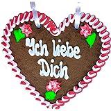 """Lebkuchenherz -""""Ich liebe dich"""" als Geschenkidee für Freundin (21x21cm) Geschenkidee für Valentinstag"""