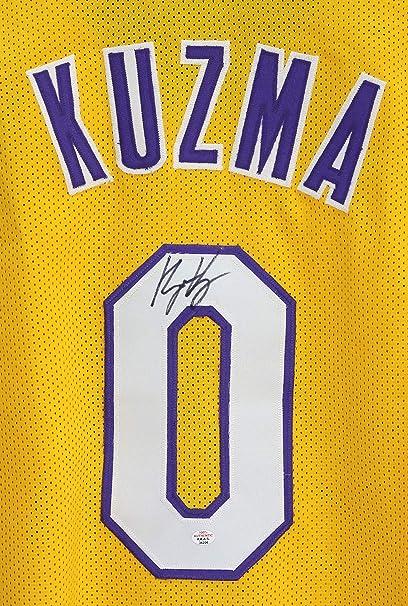 e6a068b0813 Kyle Kuzma Los Angeles Lakers Signed Autographed Yellow #0 Custom Jersey  PAAS COA