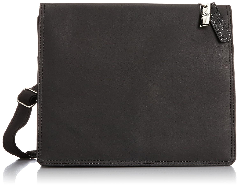 [ヴィスコンティ] VISCONTI フルフラップ 牛革ミディアムメッセンジャーバッグ HARVARD(M) B00E5SKQ8E oil black+