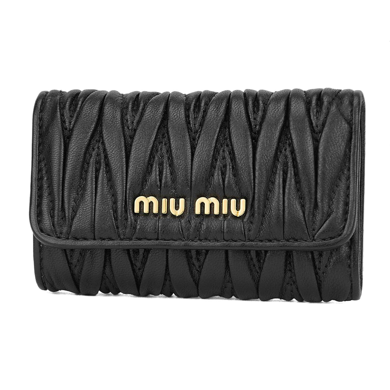 ミュウミュウ(MIU MIU) キーケース 5PG222 2BPU F0002 マテラッセ ブラック 黒 [並行輸入品]   B07649S35S