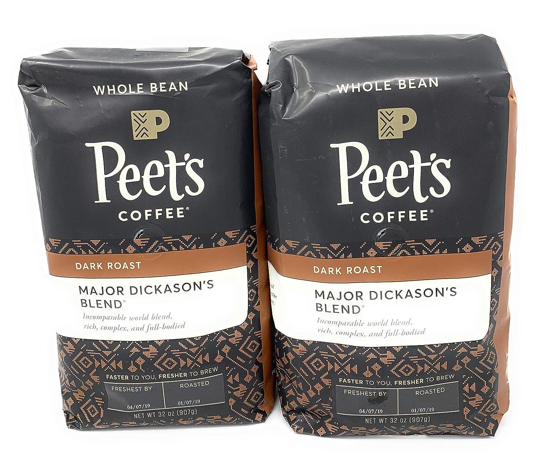 Peet's Coffee, Major Dickason's Blend, Dark Roast, Whole Bean 32oz