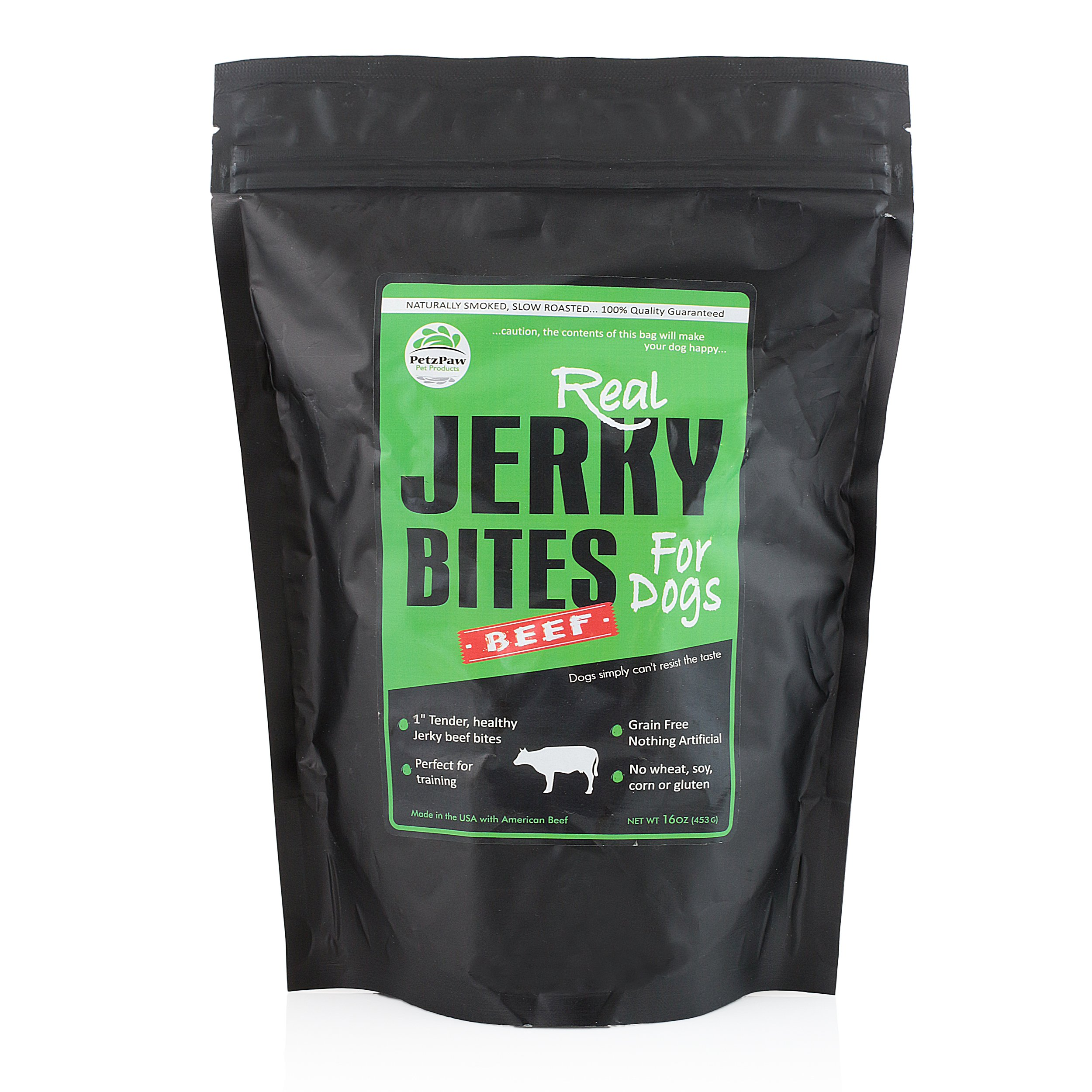 Beef Jerky Dog Treats - Natural Made in the USA - Pet Training Treat