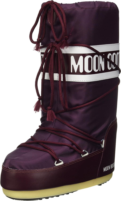 Moon-boot Nylon, Zapatillas de Deporte Exterior Unisex Adulto, Morado (Bourgogne 074), 42 EU